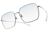 SEROVA 太陽眼鏡 SS9051 C02 (槍-漸層藍鏡片) 新潮多邊方框 墨鏡 漸層 透明款 彩色鏡片 金橘眼鏡