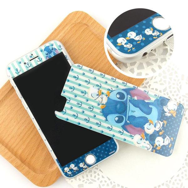 【Disney 】iPhone 6 plus 強化玻璃彩繪保護貼-史迪奇