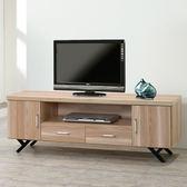 Homelike 路西5尺電視櫃-原木色-免組裝