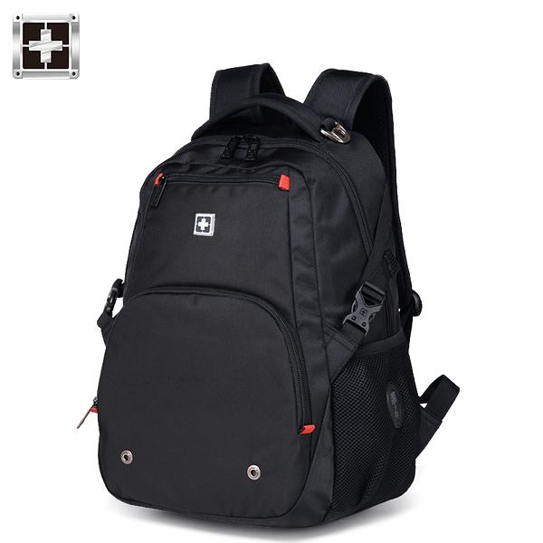 雙肩包男士背包軍刀商務電腦包大容量高中學生書包女運動休閑