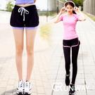 【R】運動長褲 假兩件 綁帶 瑜珈健身休閒長褲 假兩件式瑜珈褲 吸濕排汗 健身跑步