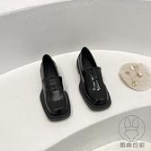 鞋子女小皮鞋女JK復古高跟鞋粗跟樂福鞋潮單鞋【貼身日記】