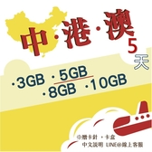 《中港澳網卡》5天中國、香港、澳門通用網卡/香港上網/澳門網卡/中國網卡/大陸上網/中港澳卡