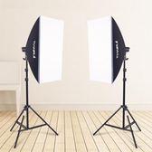 攝影燈 單燈頭柔光箱2燈套裝攝影棚攝影燈柔光箱套裝攝影器材影視補光燈