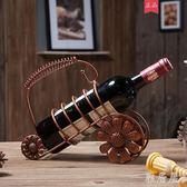 創意鐵藝歐式紅酒架擺件現代簡約家用mj5400【雅居屋】TW