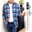 【大盤大】(S61323) 男 M-2XL 薄外套 純棉 長袖襯衫 100%棉 法蘭絨 商務 格紋 格子口袋上衣 輕刷毛