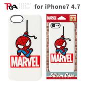 【唐吉】iPhone 7 4.7吋 iJacket Marvel 矽膠立體 手機軟殼 附贈擦拭布 - 白蜘蛛人
