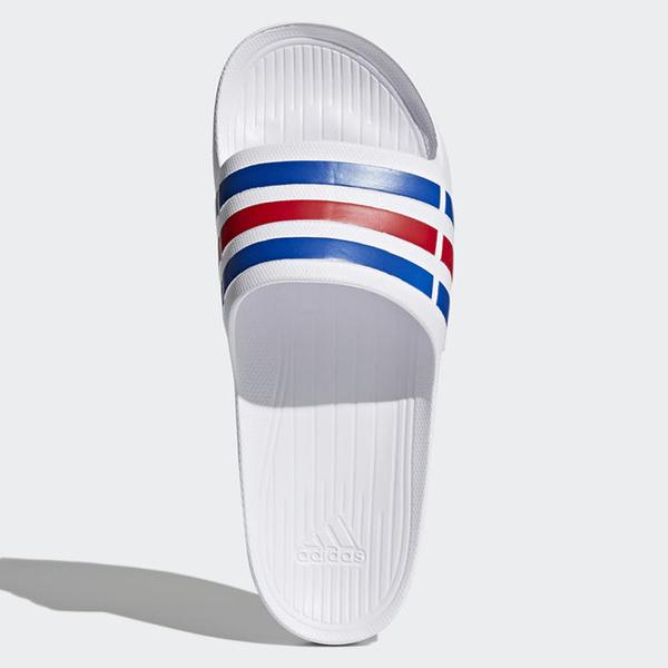 Adidas DURAMO SLIDES 男鞋 女鞋 拖鞋 沙灘拖 防水 白 藍 紅 【運動世界】U43664
