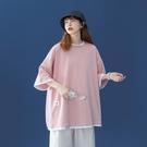 假兩件上衣 棉質t恤女生短袖2021新款夏季寬鬆韓版半袖原宿上衣服ins潮 維多原創