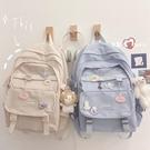 後背包 日系雙肩包中學生大容量背包初中生大學生書包女韓版ins風高中生 交換禮物