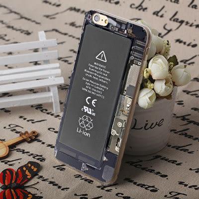 [文創客製化] iPhone 7 Plus i7 i7plus 6 6S i6 Plus iphone6S i6S 手機殼 239 電池圖案