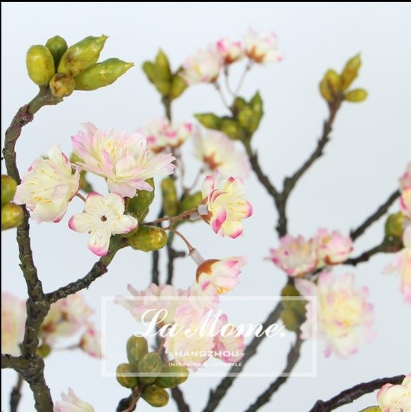[協貿國際]高仿真花白色櫻花果子梨花/絹花樣板房婚慶裝飾花藝