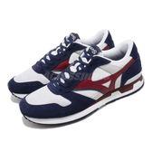 Mizuno 休閒慢跑鞋 GV87 藍 紅 麂皮鞋面 復古 男鞋 運動鞋【PUMP306】 D1GA1908-62