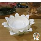 精緻白瓷蓮座(光明-身體健康) + 平安加持小佛卡【十方佛教文物】
