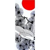 【日本製】【和布華】 日本製 注染拭手巾 丹頂鶴圖案 SD-5165 - 和布華