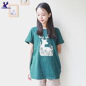 American Bluedeer -【春夏降價款】剪影小鹿T 春夏新款