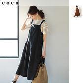 綿麻 吊帶裙 牛仔裙 丹寧洋裝免運費 日本品牌【coen】