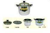 牛88不銹鋼煉鍋滴雞精煉雞湯鍋32cm五件式 正304不鏽鋼 具有電鍋、蒸鍋功能