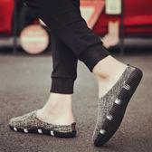 夏季透氣帆布鞋男鞋子韓版潮流懶人鞋一腳蹬布鞋男士亞麻板鞋 可可鞋櫃