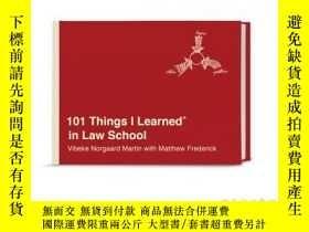 二手書博民逛書店101罕見Things I Learned(r) in Law