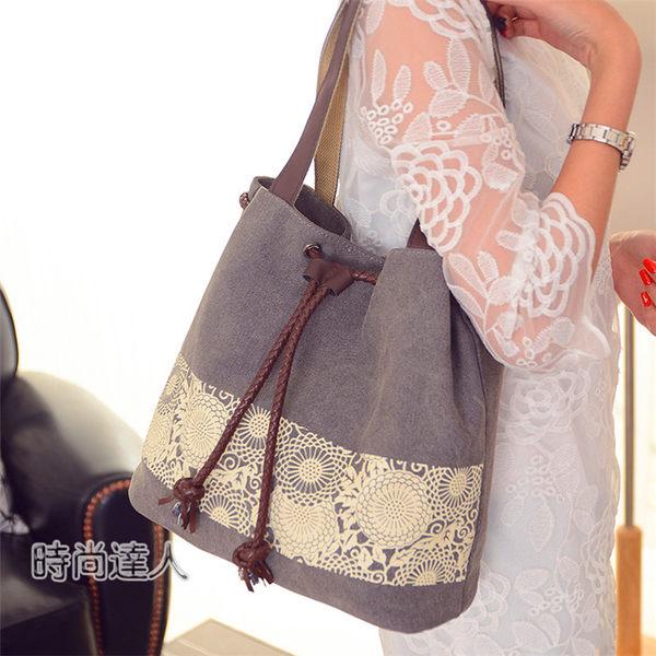 帆布肩背包 休閒布包森女手提棉麻質地大包包日繫簡約小清新女包熱賣夯款