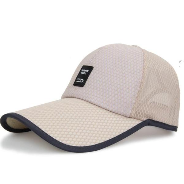 棒球帽帽子男夏天潮人太陽帽休閒防曬遮陽網帽釣魚棒球帽透氣鴨舌速幹帽 快速出貨