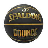 Spalding Bounce [SPB91003] 籃球 7號 室內外 PU 控球佳 耐磨 附球針 球網 黑金