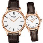 TISSOT天梭唯你寵愛超薄對錶 T0634093601800+T0630093601800