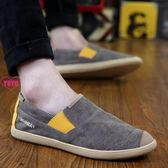 YOYO 懶人鞋 帆布 休閒男鞋 一腳蹬 老北京布鞋