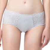 思薇爾-花蔓系列M-XL蕾絲低腰平口內褲(汽泡灰)