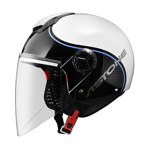 【東門城】ASTONE CJ500 - LL10 彩繪(白/藍) 3/4半罩式安全帽