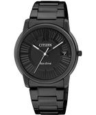 CITIZEN 星辰 Eco-Drive 時尚都會大三針腕錶/手錶-IP黑 FE6015-56E