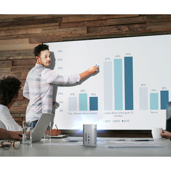 贈原廠收納包 XGIMI 極米 MoGo Pro 可攜式智慧投影機 Full HD 內建 Android TV 台灣公司貨