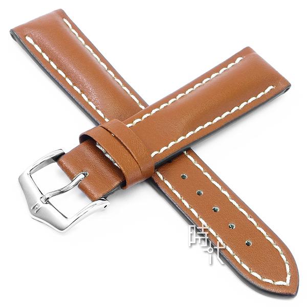 【台南 時代鐘錶 海奕施 HIRSCH】小牛皮錶帶 Heavy L 淺棕色 附工具 01475070 百米防水 防水錶帶