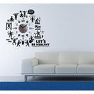 【收藏天地】RoomDeco*創意時鐘壁貼家飾-健身鐘 /掛鐘 時鐘貼 居家 生活用品 時鐘 禮物