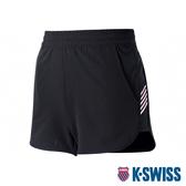 K-SWISS Woven Shorts 3運動短褲-女-黑/粉紅