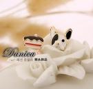 夾式耳環 現貨 韓國氣質甜美 超萌可愛法鬥蛋糕不對稱 夾式耳環 S90592 批發價 Danica 韓系飾品