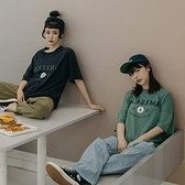 Queen Shop【01038915】ALABAMA印花棒球圓領T 兩色售*現+預*