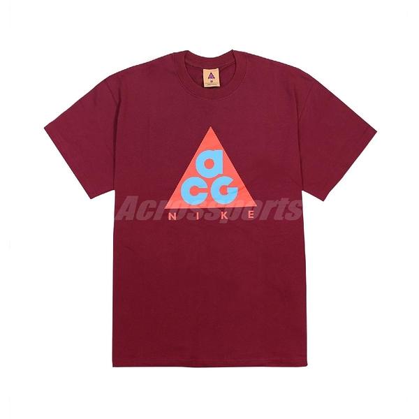 Nike 短袖T恤 ACG Graphic T-Shirt 暗紅 藍 男款 短T 運動休閒 【ACS】 CV1533-638