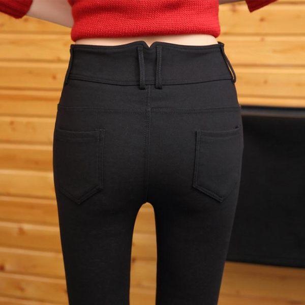 黑色打底褲秋季新款女外穿韓版百搭加長加絨小腳鉛筆長褲大碼