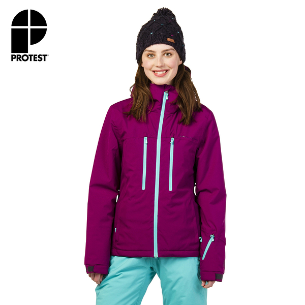 PROTEST 女 機能防水保暖外套 (紫霧色) GIGGILE 17 SNOWJACKET