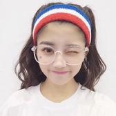 韓國時尚復古方形眼鏡框原宿學生個性簡約