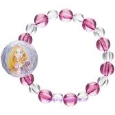asdfkitty*迪士尼長髮公主串珠彈性手鍊/手環-可當髮束-日本正版商品