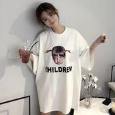 韓版睡裙女夏純棉短袖甜美清新睡衣女夏天可愛卡通學生寬鬆家居服