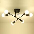 YP燈飾 工業風六燈半吸頂燈...