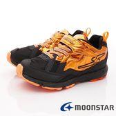 【MOONSTAR】日本月星頂級競速童鞋 閃電競速2E系列 SSJ8622橘黑(中大童段)-N