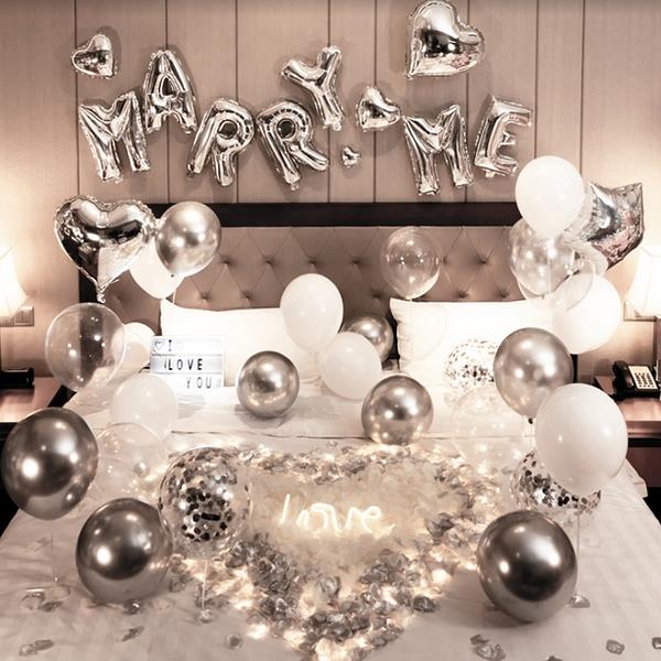 【奢華驚喜求婚氣球套餐組】附打氣筒+膠帶 派對布置 生日氣球 聚會 慶祝 DIY [百貨通]