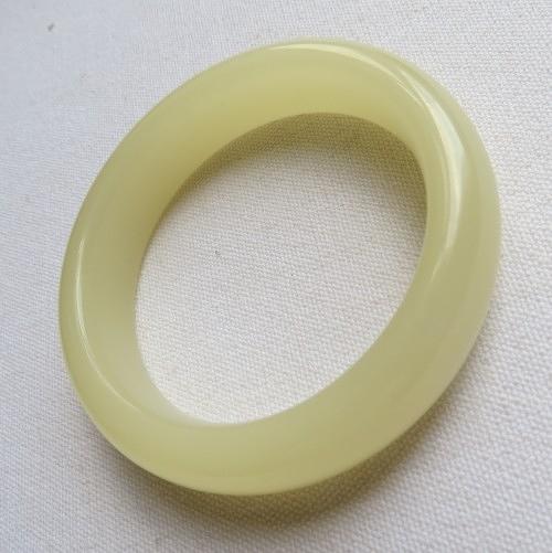 青白玉手鐲#0350  60mm