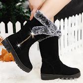 雪地靴女冬季保暖加絨秋冬中筒短靴女加厚休閒學生棉鞋女 千千女鞋