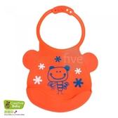 Creative Baby 創寶貝 可收納式攜帶防水無毒矽膠學習圍兜_活力寶貝